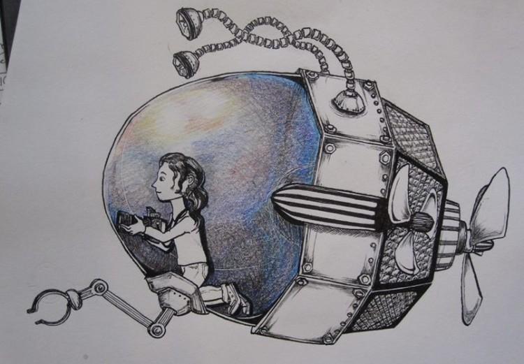 sub drawing